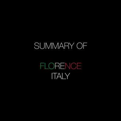 Summary Of: Florence